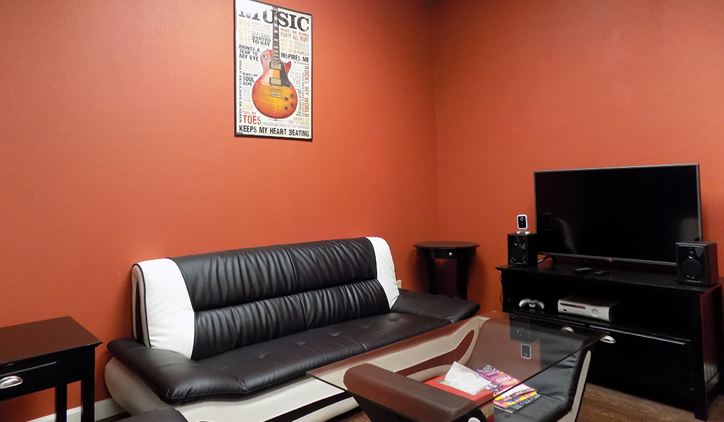 Modesto recording studio lounge at Industry Sound Studio