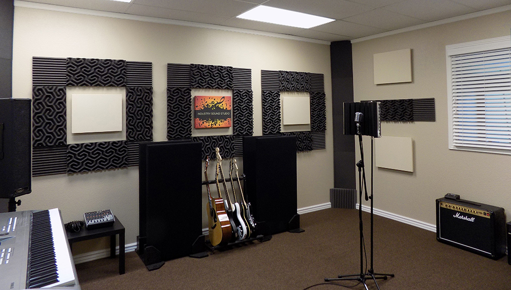 Modesto recording studio tracking band room at Industry Sound Studio